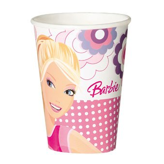 10 gobelets Barbie Fashion 2