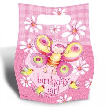 6 pochettes à cadeaux 1er âge fille