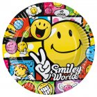 8 assiettes Smiley world