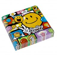 20 serviettes Smiley world