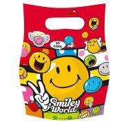 6 pochettes � cadeaux Smiley world