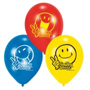 6 ballons Smiley world