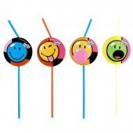 8 pailles Smiley world