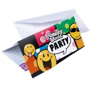 6 cartes d'invitations Smiley world