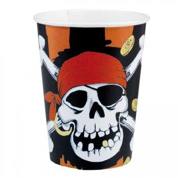 8 gobelets Pirate tête de mort