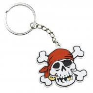 2 porte-clés Pirate tête de mort