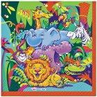 16 serviettes animaux joyeux