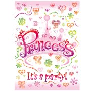 8 Invitations Princesse Diva