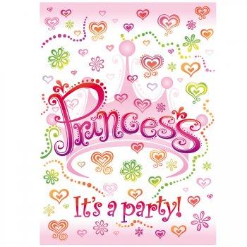 8 Invitations Princesse Diva