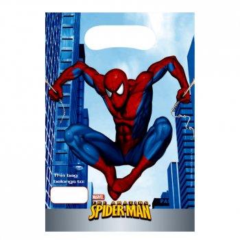 6 pochettes à cadeaux Spiderman