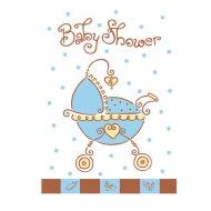 8 invitations Baby shower garçon