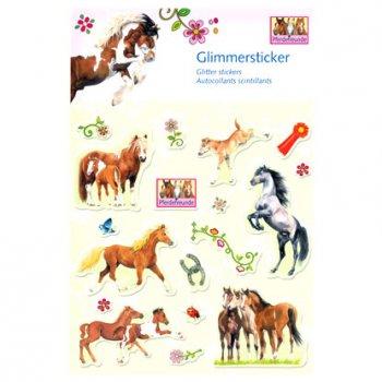 Stickers scintillants Amis des Chevaux