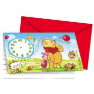 6 invitations Winnie L'ourson