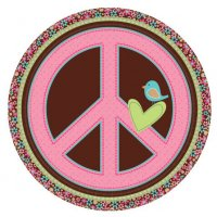 Contient : 1 x 8 Assiettes Peace and Love