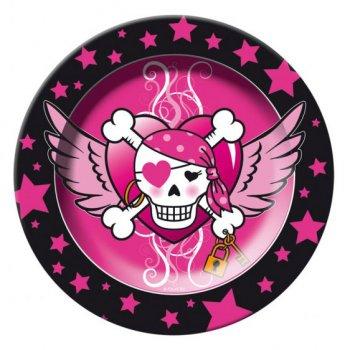 8 Assiettes Pirate girl