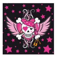 20 Serviettes Pirate girl