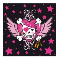 Contient : 1 x 20 Serviettes Pirate girl