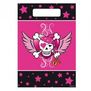 8 Pochettes à cadeaux Pirate girl