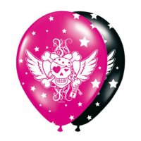Contient : 1 x 8 Ballons Pirate girl