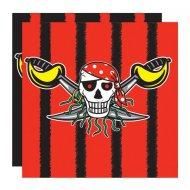 20 Serviettes Red Pirate