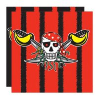 Contient : 1 x 20 Serviettes Red Pirate