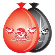 8 Ballons Red Pirate