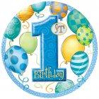 8 assiettes anniversaire 1 an garçon