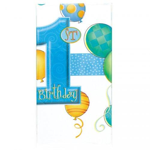 Nappe anniversaire 1 an garçon