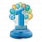 Centre de table anniversaire  1 an garçon