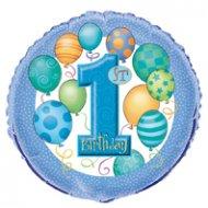 Ballon Mylar Anniversaire 1 an Garçon