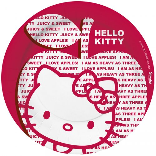 10 assiettes Hello Kitty apple
