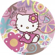 10 assiettes Hello Kitty bamboo