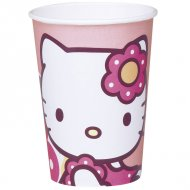 10 gobelets Hello Kitty bamboo