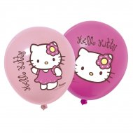 12 ballons Hello Kitty bamboo