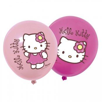 12 ballons Hello Kitty bamboo