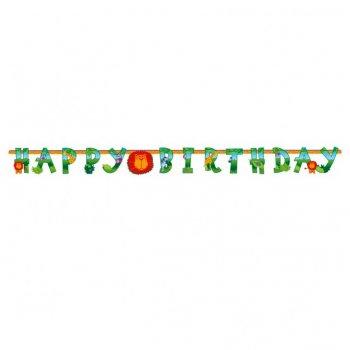 Guirlande lettres Happy Birthday Jungle