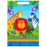 8 pochettes � cadeaux Jungle