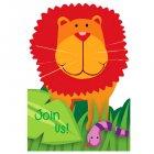 8 invitations Jungle