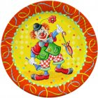 10 assiettes Clown