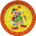 10 assiettes Clown