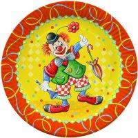 Contient : 1 x 10 assiettes Clown