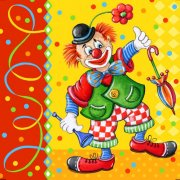 20 serviettes Clown