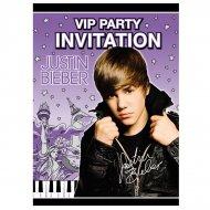 8 invitations Justin Bieber