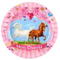 Contient : 1 x 6 Assiettes Mon Cheval