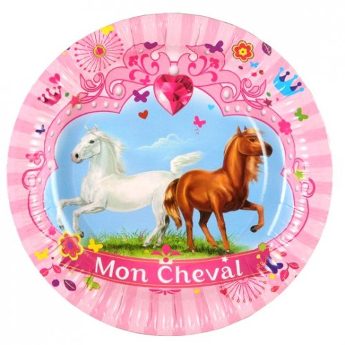 6 Assiettes Mon Cheval