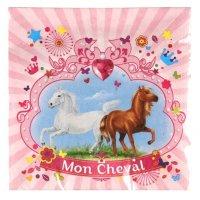 Contient : 1 x 20 Serviettes Mon Cheval