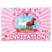 6 Cartes d'invitations Mon Cheval
