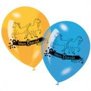 6 ballons Mon Cheval (6 couleurs)
