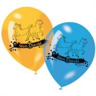 6 ballons Mon Cheval
