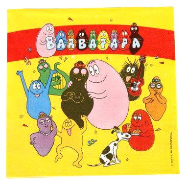 20 Serviettes Barbapapa